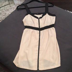 Black and Tan dress with zipper front